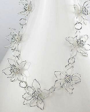 Sterling Silver Floating Waterlily Necklace