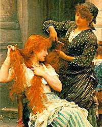An Al Fresco Toilet by Samuel Luke Fildes