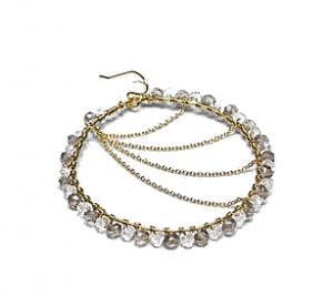 Moonbeam Earrings by Jewelry Designer Amanda Rudey