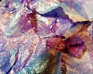 Shimmering paper hand made by Susan Maxwell Schmidt