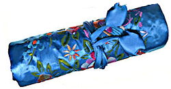 Chinese Silk Brocade Jewelry Roll