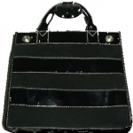 Vintage Michael Kors Striped Suede and Leather Tote eBay Steal