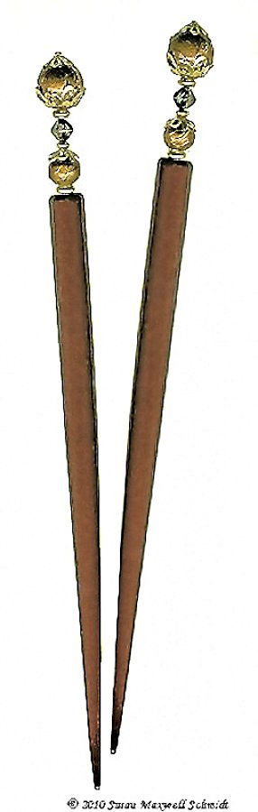 Bronze Ambrosia LongLocks RapunzelStix Hair Sticks