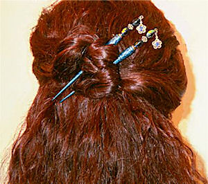 Cynthia shows off her Montana Blues LongLocks GemStix