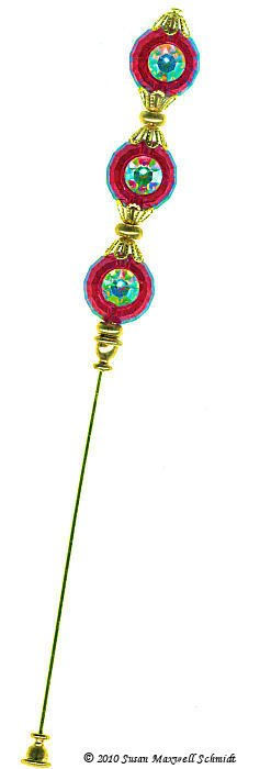 Divine Sparkle III LongLocks Hat Pin and Stick Pin
