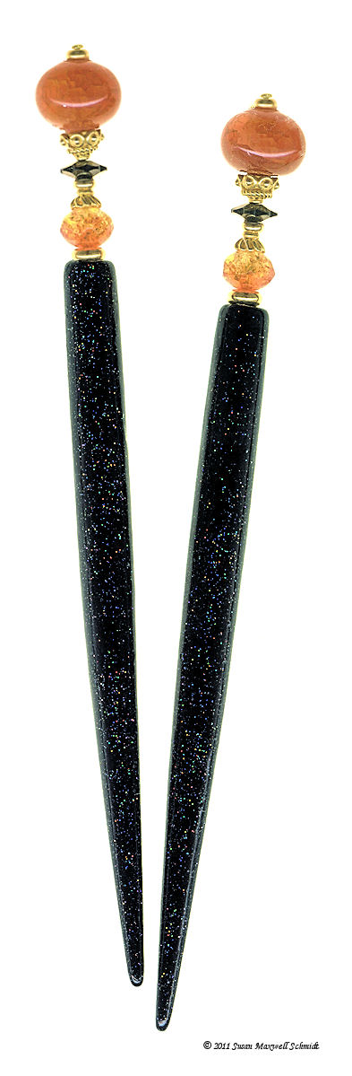 Fire Agate Special Edition LongLocks HoloStix Hair Sticks