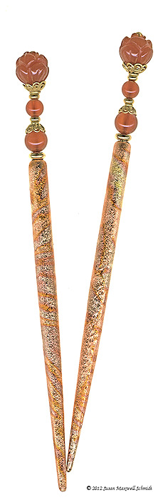 Fire Lotus Special Edition FoilStix LongLocks Hair Jewelry - Click to see our full catalog!