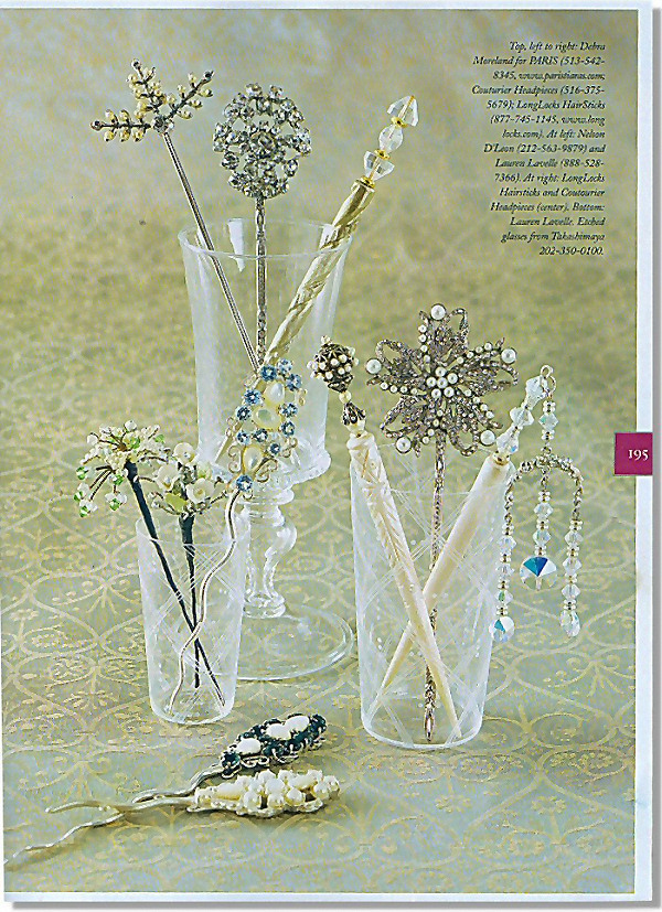 LongLocks Hair Jewelry featured in For the Bride