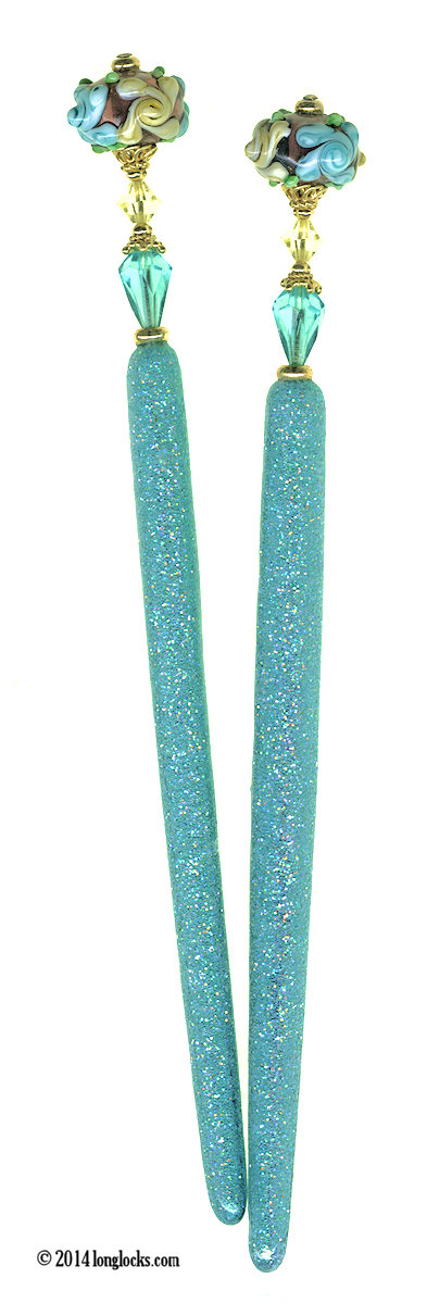 Garden Rain Special Edition LongLocks GlitterStix Hair Sticks