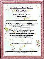 LongLocks HairSticks Boutique Gift Certificates