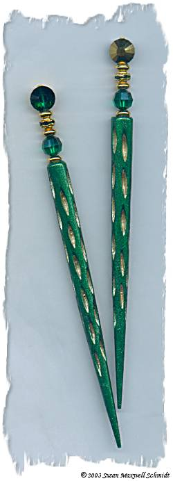 Gilded Emerald LongLocks Design - Click to see our hair jewelry catalog!