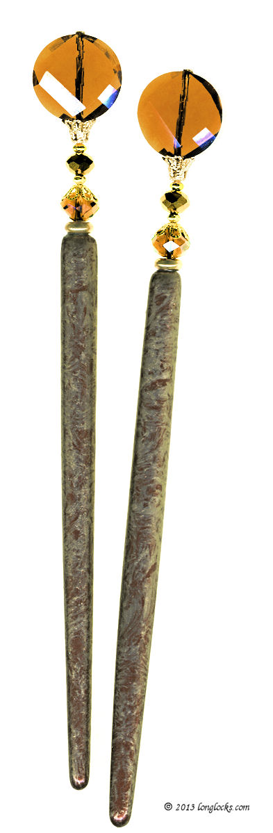 Gingerbread LongLocks MajeStix Hair Sticks