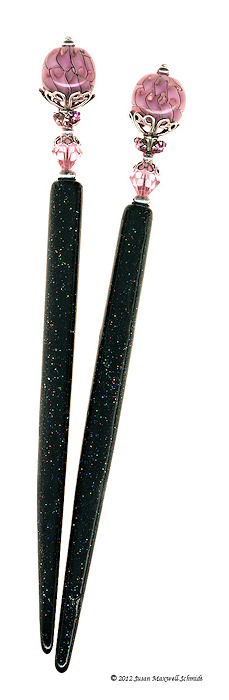 Heavenly Rose Special Edition HoloStix LongLocks HairSticks - Click to see our full catalog!