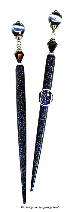 Starshine Sparkle LongLocks HoloStix  Hair Jewelry Design - Click to see our hair jewelry catalog!