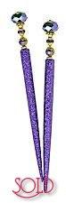 Lilac Electric GlitterStix Hair Sticks