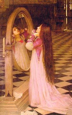 Mariana Admires Her Very Long Hair in This Painting by John William Waterhouse