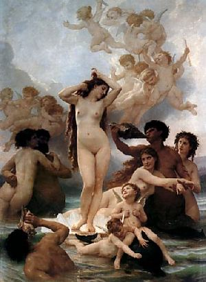 The Birth of Venus by William Adolph Ebourguereau