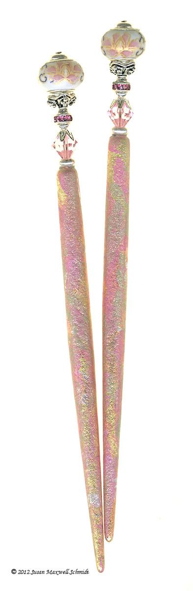 Pink Lotus LongLocks RomanzaStix Hair Sticks