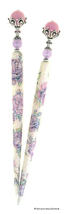 Ramblin' Rose Special Edition SugarStix LongLocks HairSticks - Click to see our full catalog!