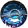 Rare Vintage Swarovski Heliotrope Crystal Bead