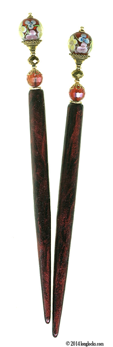 Scarlet Garden LongLocks FantasyStix Hair Sticks