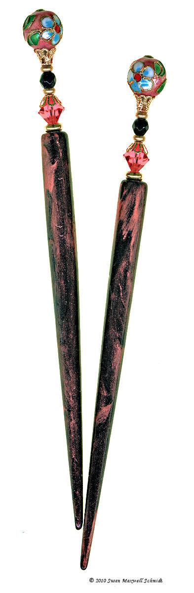 Shanghai Blush LongLocks Hair Jewelry Design