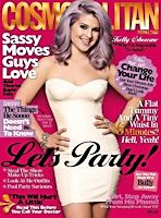 Kelly Osbourne with Dusty Purple Hair on Cosmopolitan Cover