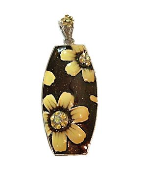 Cloisonné and Rhinestone Pendant Available at PaintedBride eBay Auctions