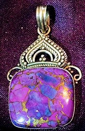 Purple Turquoise Pendant