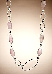 Adrienne Vittadini Rose Quartz Necklace
