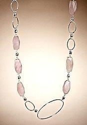 Adrienne Vittadini Rose Quartz Necklace