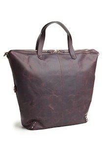 Ava Rose Speed Racer Tote Handbag in Burgundy