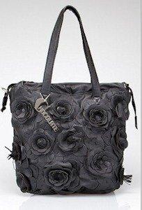 Chocolate Floral Bucket Bag