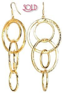 Kenneth Jay Lane Gold Hoop Earrings