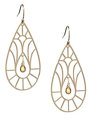 Kris Nations 14kt. Gold-Filled and Citrine Cathedral Earrings