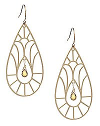 Kris Nations Cathedral Citrine Earrings
