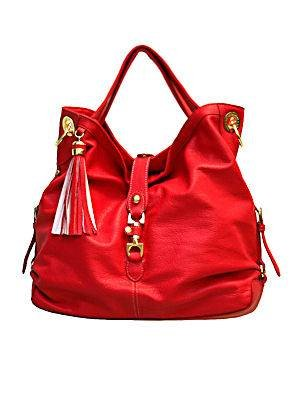 London Fog Morgan Handbag in Red