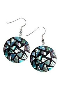 Mad by Design Pearl Inlaid Earrings