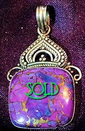 Sterling Silver Purple Turquoise Pendant