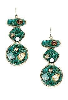 Sparkling Sage Amazonite Gemstone and Swarovski Crystal Earrings