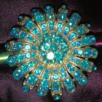 Turquoise Rhinestone Statement Ring