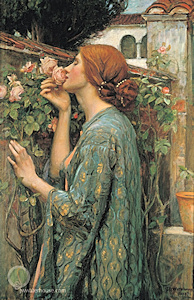 The woman depicted in Waterhouse's Soul of a Rose wears a beautifully braided bun