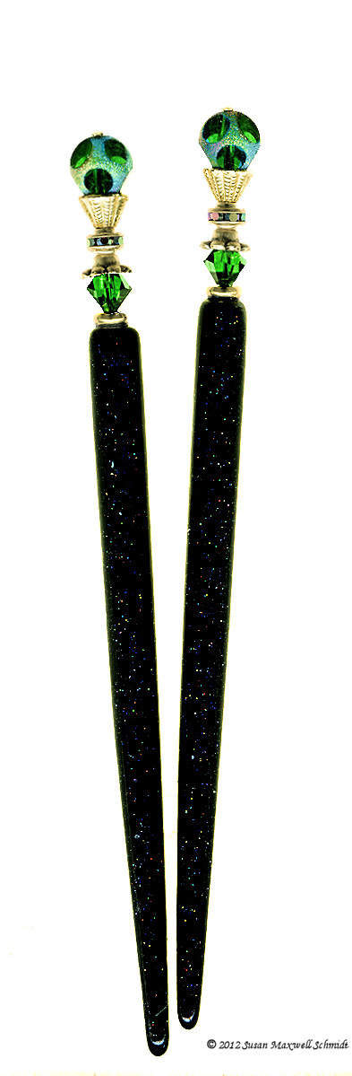 Tourmaline Stars LongLocks HoloStix Hair Sticks