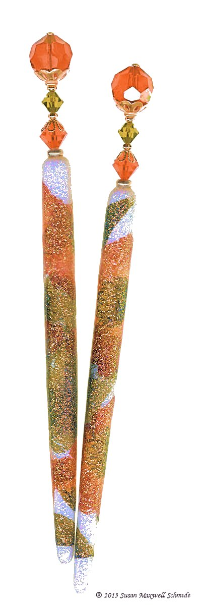 Wild Persimmon LongLocks SugarStix Hair Sticks